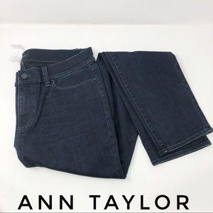 Ann Taylor The Skinny Modern Fit Dark Wash Jeans